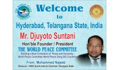 DJUYOTO SUNTANI - Founder and President of World PEace Committe and World Peace Gong - An International Organization tht reaches 202 Countries in the World