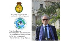 FRANCESCO PAOLO SCARCIOLLA DEL GAVATINO DI TORRE SPAGNOLA - Secretary General for world peace and coordination representative of the Committee in 202 countries around the world for the Gong of peace