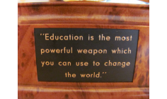 EDUCATION IS THE MOST POWERFUL WEAPON IN HUMANITY - NELSON MANDELA AND PACIFIST JOURNAL