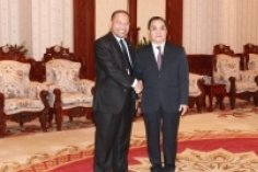 Great meeting between His Excellency Presiden Djuyoto Suntani with His Excellency Prime Minister of the Republic of Lao Mr Thongsing Thammavong. Two great person of the world.