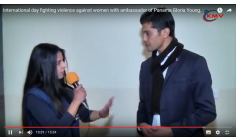 ZAKARIA EL HAMEL FIGHTING FOR THE WOMEN RIGHTS    WITH THE PANAMA AMBASSADOR