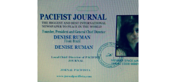 DENISE RUMAN - FOUNDER AND PRESIDENT OF PACIFIST JOURNAL - REFLECTIONS AND THOUGHTS OF THIS GREAT MENTOR OF PEACE IN HUMANITY!!!!