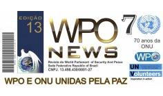 """WPO indicará a Presidente do """"Pacifist Journal"""",  Denise Ruman, como Candidata do Brasil ao Nobel da Paz."""