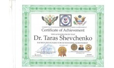 Dr Taras Schevchenco -  Kiev, Ukraine  - CEO & Founder  of World Peace Mission and Human Rights Academy C.E.O & Founder