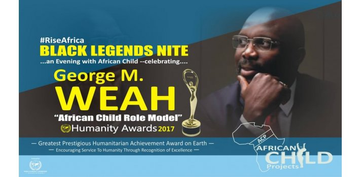 African Child Role Model 2017 Humanity Award.