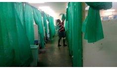 As imagens aqui mostradas poderiam ser num acampamento de vitimas de guerra na Síria, mas não e em plena Capital da Republica Federativa do Brasil, mas exato no Gama Hospital Geral do Gama, pacientes são divididos por estes panos usados em festas TNT