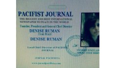 DENISE RUMAN : A GREAT WRITER FOR REAL INNER PEACE AND SO WORLD PEACE !! FOUNDER PRESIDENT AND GENERAL DIRECTOR OF PACIFIST JOURNAL AND ITS SUBSIDIARIES !!!