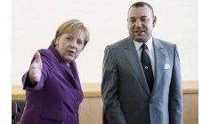 المستشارة الألمانية ميركل تلتقي الملك محمد السادس