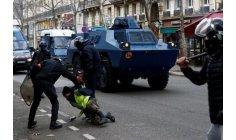"""احتجاج """"السترات الصفراء"""" .. المئات يوضعون رهن الاحتجاز في فرنسا"""
