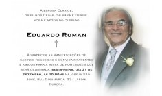 EDUARDO RUMAN -  DENISE RUMAN'S FATHER - PRESIDENT-DIRECTOR ADMINISTRATIVE AND FINANCIAL AND ENTERPRENEUR OF PACIFIST JOURNAL - PASSED AWAY 7 DAYS BEFORE CHRISTMAS 2018 .... REST IN PEACE GREAT WARRIOR OF HUMANITY !! TO WORLD PEACE HUMAN RIGHTS HUMA