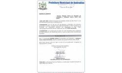 Hospede oficial primeira visita a Andradina