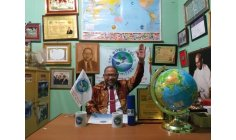 PRESIDENT OF THE WORLD PEACE COMMITTEE 202 COUNTRIES DJUYOTO SUNTANI OFICIALLY OPENNED THE NEW OFFICE THE WORLD PEACE COMMITTEE IN KARACHI, PAKISTAN