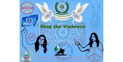 Prince Haroon Kham asking for stop violence