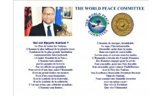 HE Djuyoto Suntani - WPC (World Peace Committee) - About His Greatness  writing in French