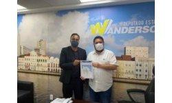 Deputado Estadual de Pernambuco Wanderson Sobral Florêncio e o Embaixador Flávio na audiência na Assembleia Legislativa Pernambuco
