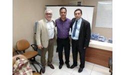 Embaixador Flávio e o Excelentíssimo Senhor MM Juiz de Direito DR Paulo Roberto de Sousa Brandão Titular da Terceira  Vara da Infância e Juventude da Cidade de Recife