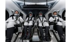 Astronauts go into space with a SpaceX recycled rocket.