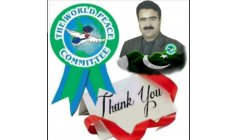 Muhammad Ashraf Khan !  Pakistan! Working to WPC ( World Peace Committee) Founded by beloved HE Prof Dr Djuyoto Suntani ( In Memoriam)