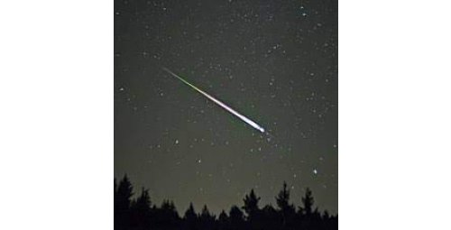 Two showers of shooting stars light up the sky